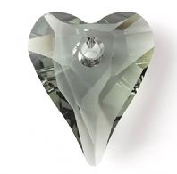 Black Diamond 17mm 6240 Swarovski Wild Heart Pendant